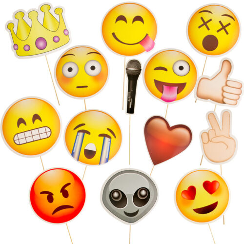 Diverse Emoji Papierschielder Fotobox-Props