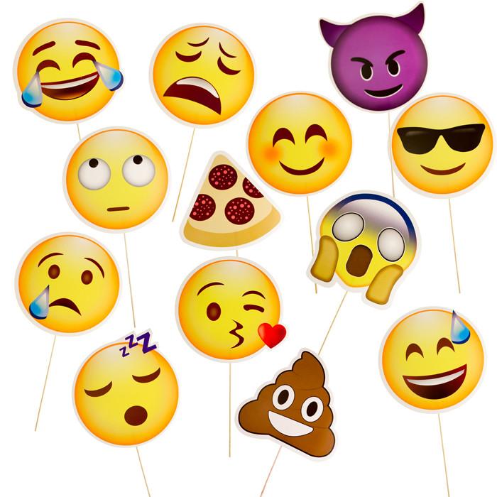 Emoji Papierschielder Fotobox-Props