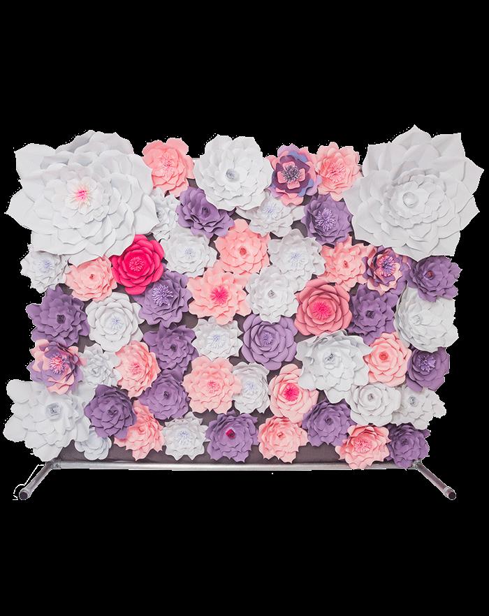 Fotobooth Hintergrund mit Papier Blumen