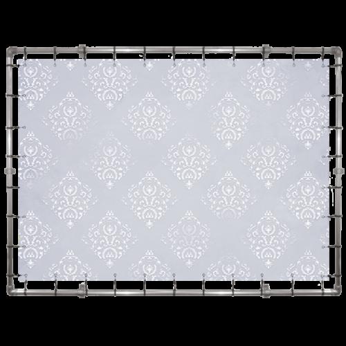 Fotobox Hintergrund in grau mit Muster