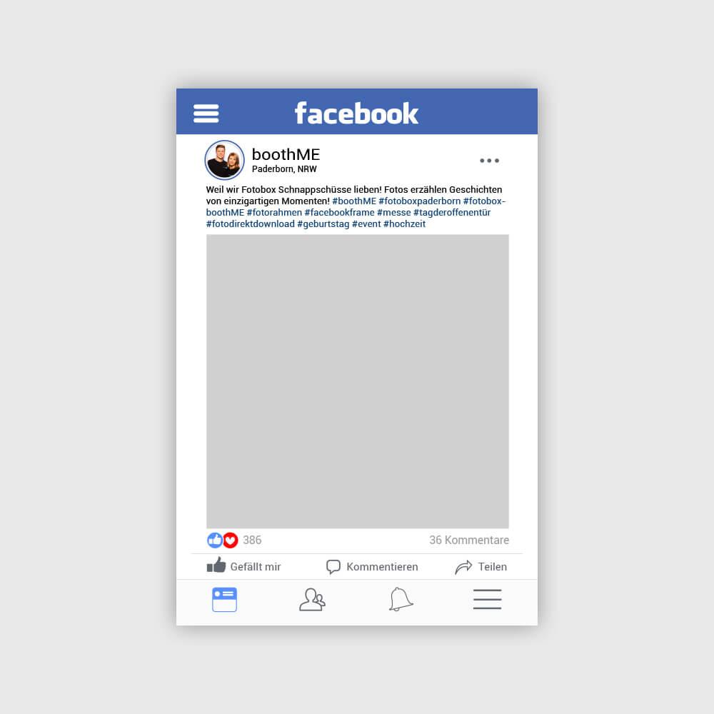 Personalisierter Facebook Fotorahmen