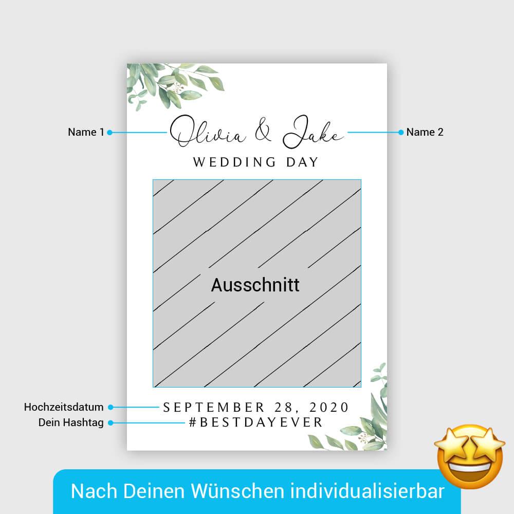 Hochzeitstag Fotorahmen Produktbeschreibung Digital