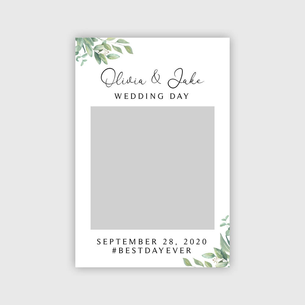 Hochzeitstag Fotorahmen Produktbild Digital
