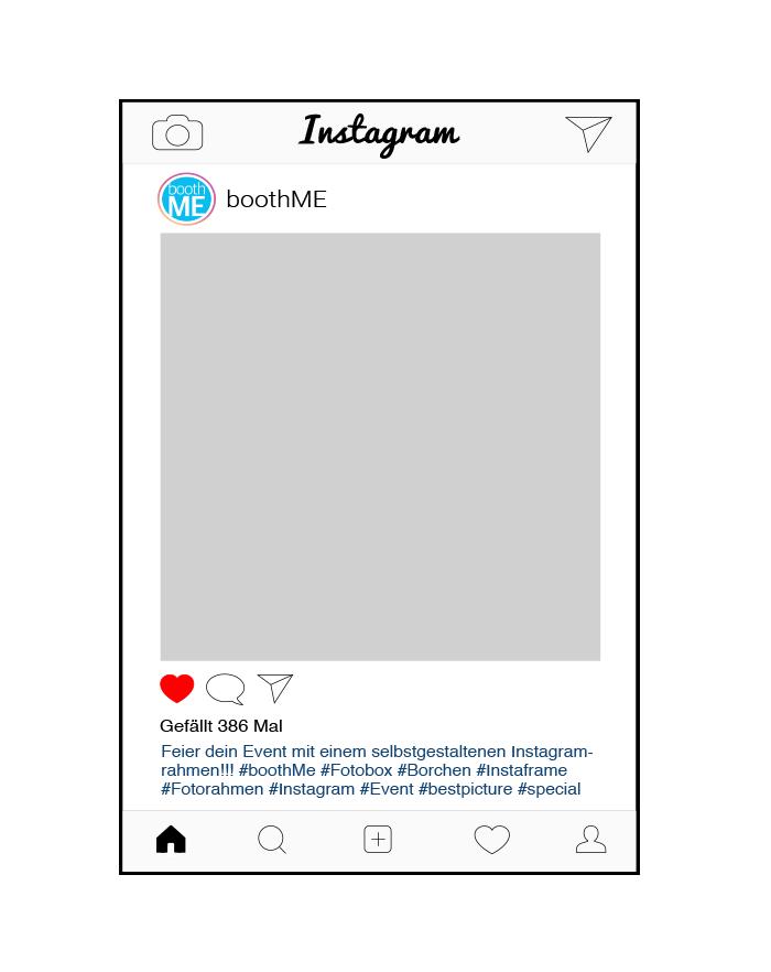 Kreative Fotoideen für deine nächste Party - Instagram Selfierahmen