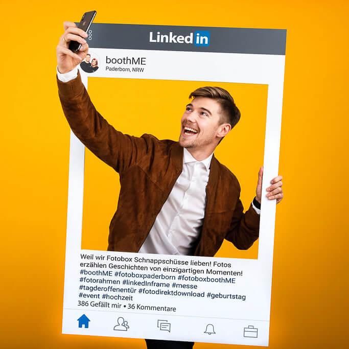 Kreative Fotoideen für deine nächste Party - Selfiefotorahmen für LinkedIn