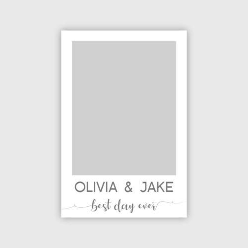 Personalisierter Hochzeit Fotorahmen Silber Produktbild
