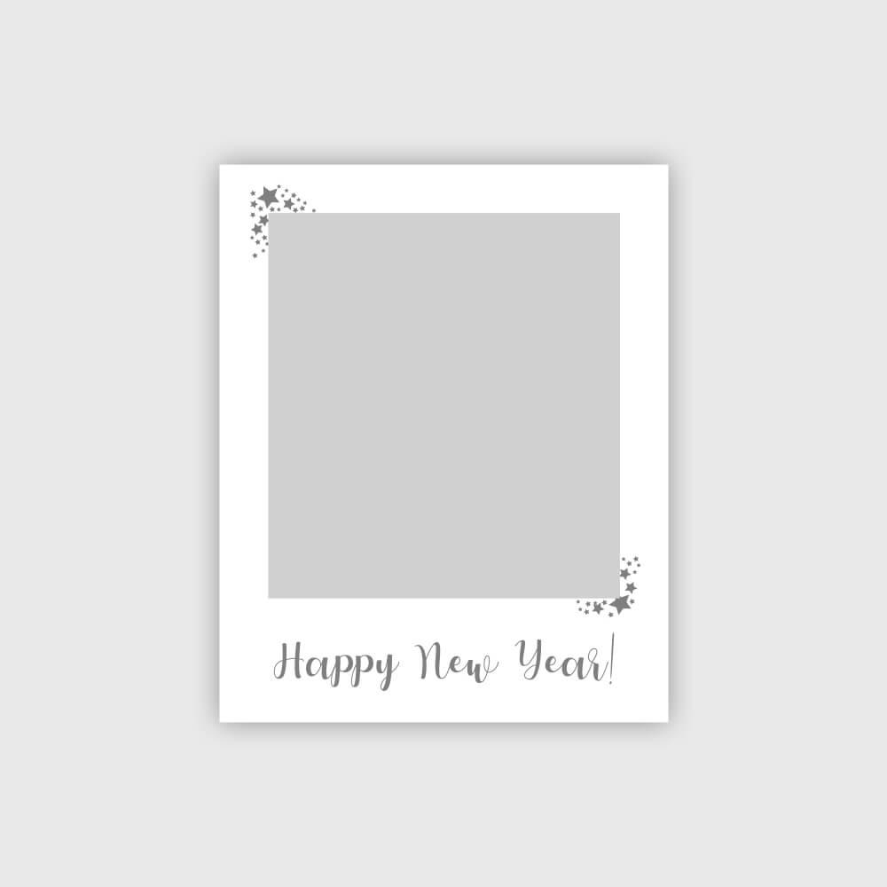 Silvester Fotorahmen Selfierahmen Happy New Year in Silber Produktbild