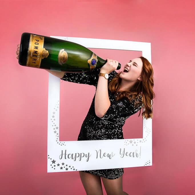 Silvester Fotorahmen Selfierahmen Happy New Year