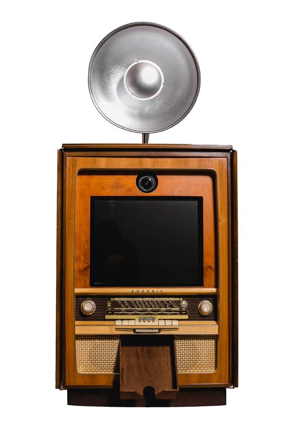 Retro TV-Fotobox